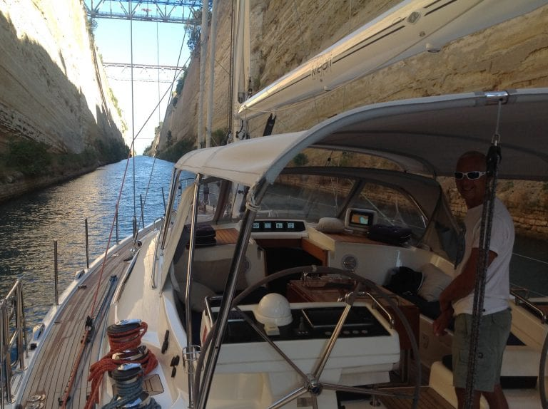 Deliveries: Corinth canal